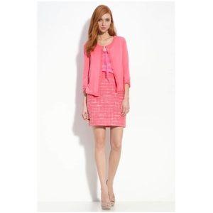 Kate Spade ♠️ Kylie Pink Tweed Gold Zipper Skirt